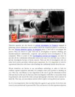 Get Complete Information about Suspicious Person from Private Detectives