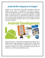 Android Development in Jaipur - ENC Technologies & Consulting Services