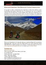 Best Motorcycle Touring Company India