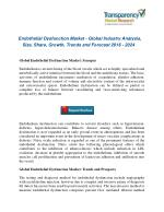 Endothelial Dysfunction Market : Emergence Of Advanced Technologies And Global Industry Analysis 2024!!
