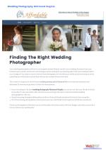 Finding The Right WeddingPhotographer