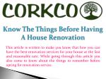 Know the Things before Having a House Renovation