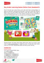 Buy Arabic Learning Games Online From Goodword's