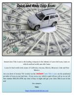 Leading Company of Instant Auto Title Loans