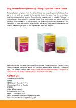 Buy Temozolomide (Temodar) 250mg Capsules Online