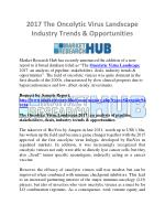2017 The Oncolytic Virus Landscape Industry Trends & Opportunities