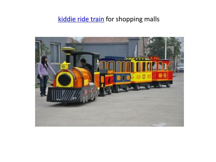 kiddie ride train for shopping malls n.