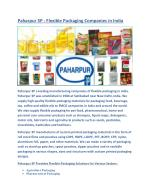 Paharpur 3P | Flexible Packaging Industry in India