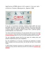 Application of CRM software in E-commerce: Increase sales with better Customer Management - Kapture CRM