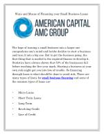 Small Business Financing | Americancapitalgrp.com