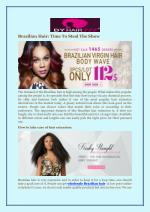 Brazilian Hair: Time To Steal The Show