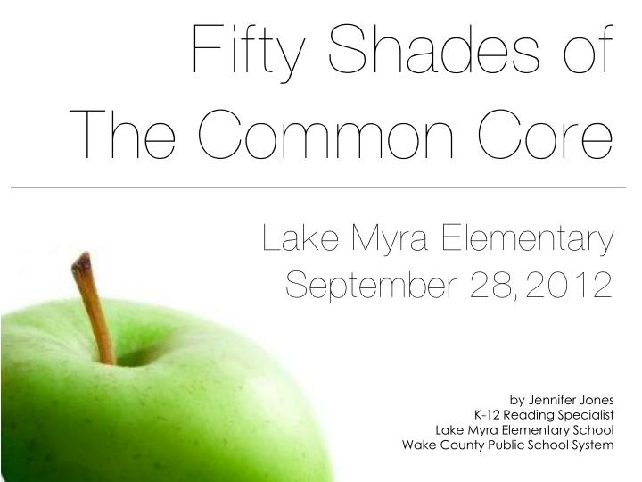 fifty shades of the common core n.