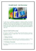 Credit Card – An Overview