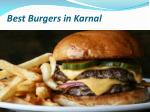 Best Burgers in Karnal