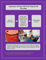 Importance of Proper Oil Waste Disposal and Recycling