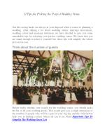 11 Tips for Picking the Perfect Wedding Venue