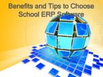 Benefits and Tips to Choose School ERP Software