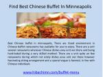 Find Best Chinese Buffet In Minneapolis