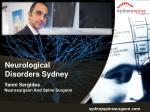 Neurological Disorders Sydney