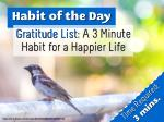 Gratitude List: A 3 Minute Habit for a Happier Life (Habit of the Day)
