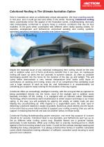 Shocking Colorbond roofing things cosmetically reflect the interest of the australian scene