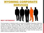 Wyoming Corporate Services