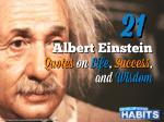 21 Albert Einstein Quotes on Life, Success and Wisdom