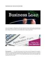 Small Business Loans How to get your Choice Right
