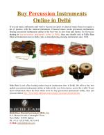 Buy Percussion Instruments Online in Delhi