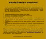 What is The Role of a Dietician?