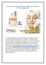 Try These Amazing DIY Natural Skin Care Products For Your Aging Skin