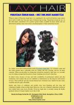 Peruvian Virgin Hair – Get The Best Hairstyle