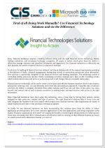 Tired of all Doing Work Manually? Use Financial Technology Solutions and see the Difference!