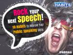 Rock Your Next Speech! 10 Habits to Improve Your Public Speaking Skills