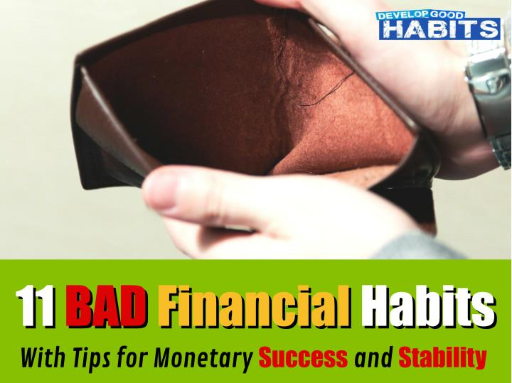 11 11 bad bad financial financial habits with n.