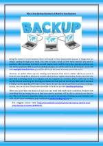 Why A Data Backup Solution Is A Must For Your Business