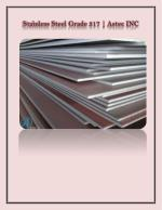 317 Stainless Steel with High Tensile Strength by Astec INC