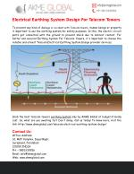 Electrical Earthing System Design For Telecom Towers