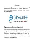 Gramlee -Dissertation Editing Services