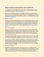 What Is the Root Canal and Root Canal Treatment?
