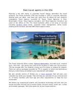 Best Travel Agents in the USA