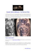 Cosmetic Tattoo in Melbourne - For The Love Of Ink