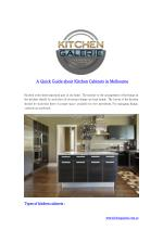 A Quick Guide about Kitchen Cabinets in Melbourne