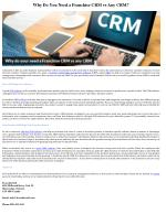 Why Do You Need a Franchise CRM vs Any CRM?