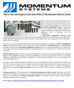 Deliver Safe and Hygienic Food with a HACCP Management Software System