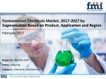 Fermentation Chemicals Market, 2017-2027 by Segmentation Based on Product, Application and Region