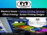 Printing Company - Online Printing Services