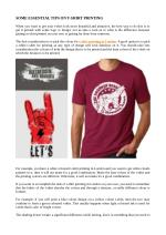 Some Essential Tips on T shirt Printing