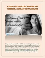 A Smile is an Improtant Wedding Day Accessory|Hungary Dental Implant