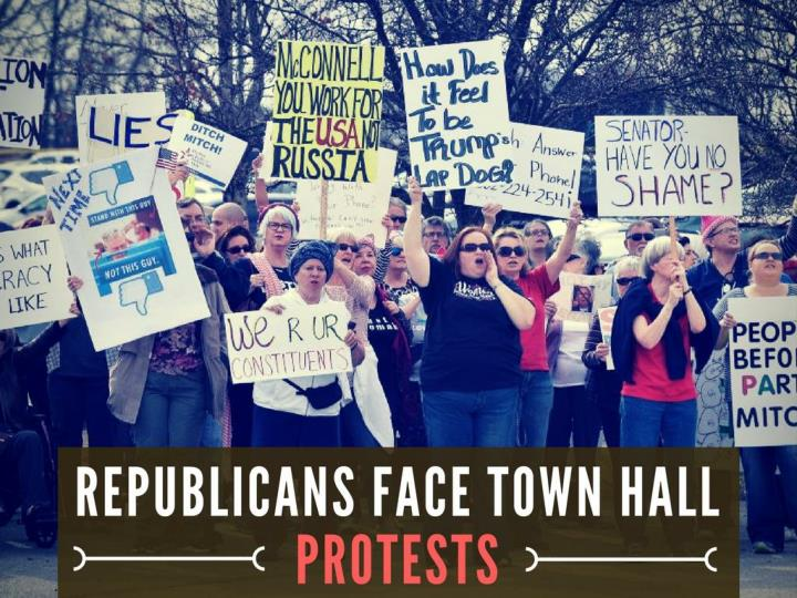 republicans confront town lobby protests n.